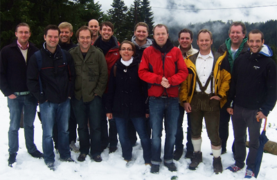 Group picture at lake Spitzingsee